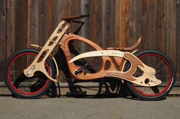 Custom Built Wooden Bicycle