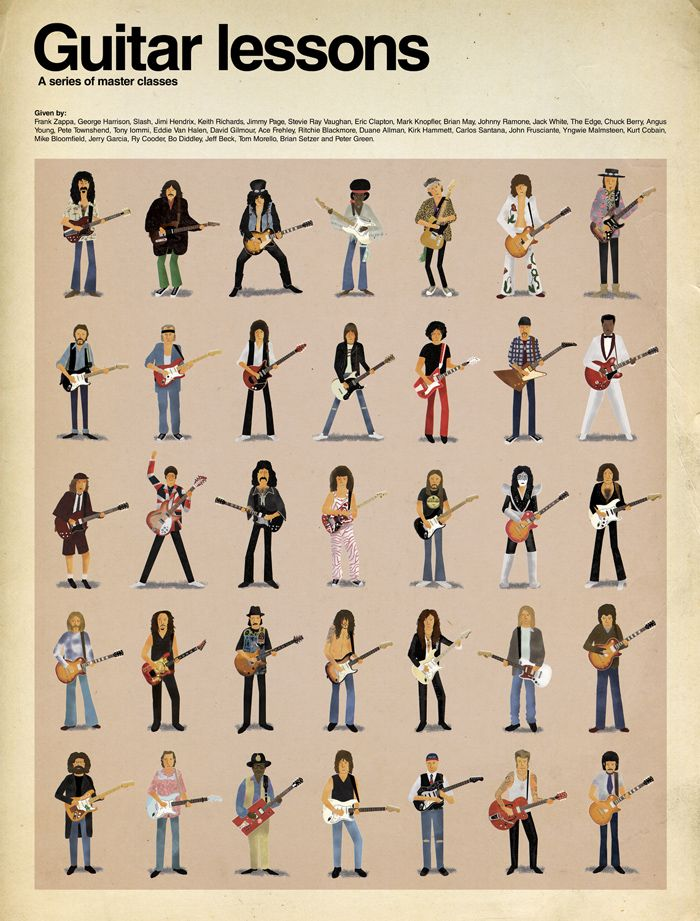 Fun out-of-print poster illustrated by Max Dalton.  See how many you can name without checking the list.  (No Prince or Kim Thayil?)