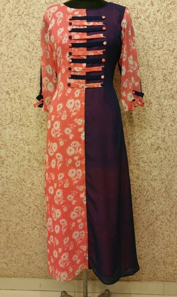 #Georgettekurtidesign #LatestCottonkurti #Kurtidesignewithborder #StylishwesternKurtionline  Maharani Designer Boutique  To buy it click on this link; http://maharanidesigner.com/Anarkali-Dresses-Online/salwar-suits-online/ Rs-3000.  For any more information contact on WhatsApp or call 8699101094 Website www.maharanidesigner.com Maharani Designer Boutique's photo.