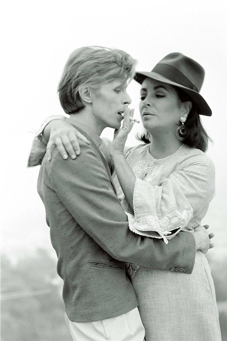 David Bowie, Elizabeth Taylor, 1975