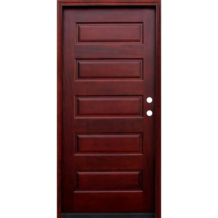 pacific entries contemporary 5 panel stained wood mahogany entry door