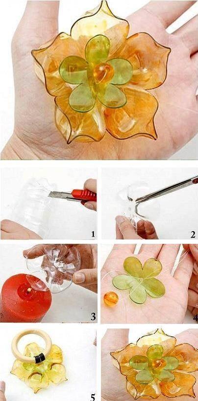 Blüten aus Plastikflaschen