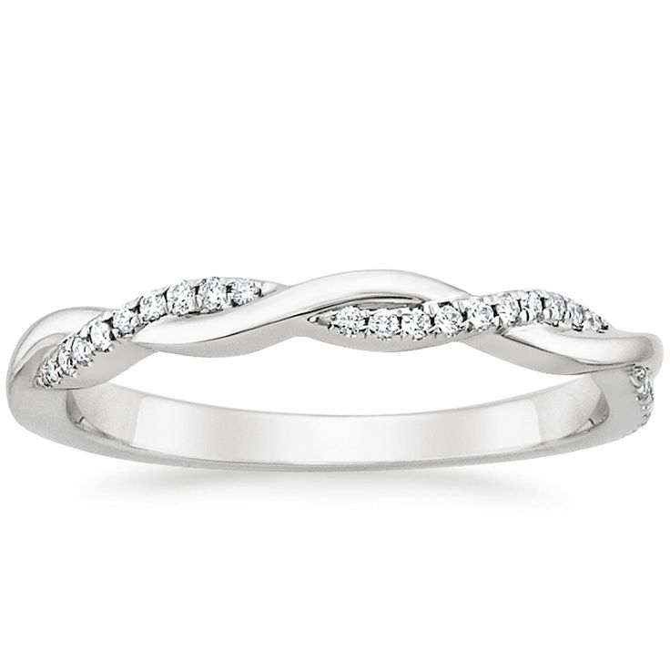 (18K White Gold Petite Twisted Vine Diamond Ring from Brilliant Earth.) This is my fave wedding band!! <3