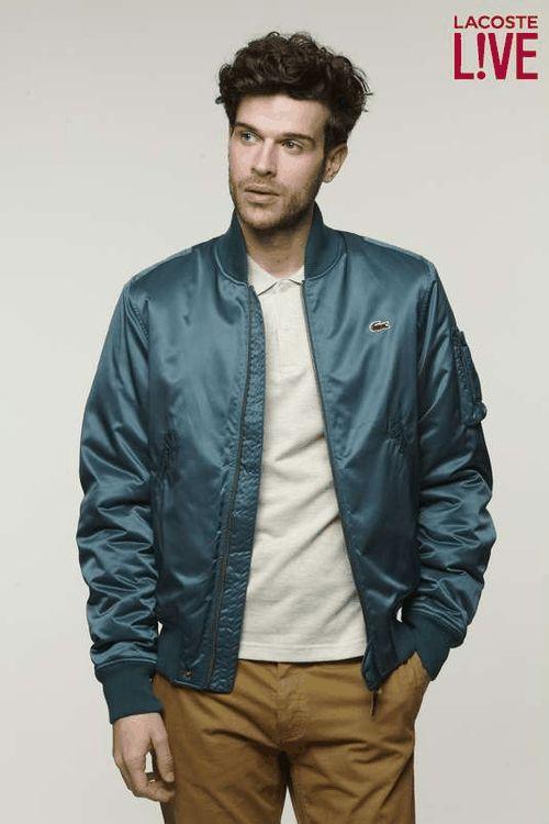 Lacoste | L!VE Taffeta Bomber Jacket #lacoste #bomber #jacket