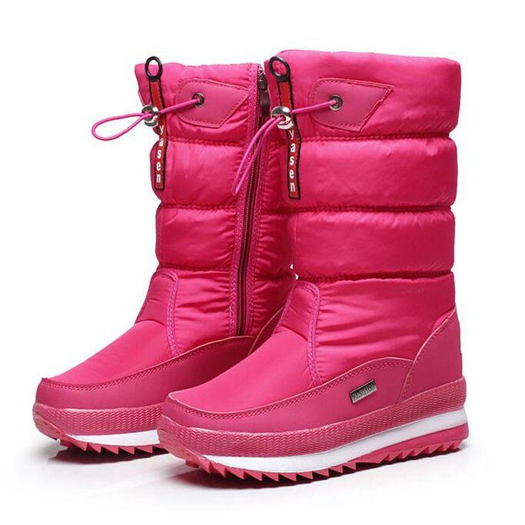 Новый 2016 сапоги женские зимние ботинки снежка женщин толстые открытый нескользящей непромокаемые сапоги снега для женщин botas mujer 06 #CLICK! #clothing, #shoes, #jewelry, #women, #men