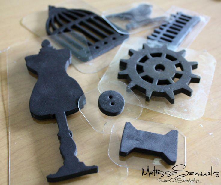 Make foam stamps from die cutsStamps Tut, Custom Foam, Die Cut, Crafts Ideas, Diy Stamps, Sizzix Die, Diy Foam, Foam Stamps, Melissa Samuel
