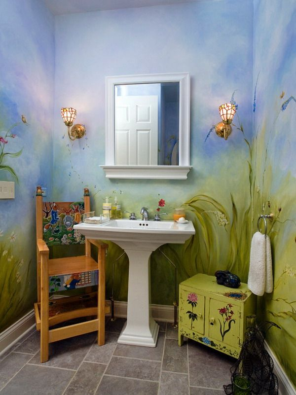 Bathroom design tiles stone marble countertops for Children s bathroom designs