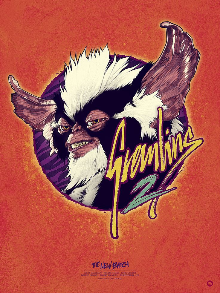 """GREMLINS 2: The New Batch  This is my final piece for the Hero Complex Gallery's new show in collaboration with Trailers From Hell;  """"KINGS OF CULT: A Tribute to Roger Corman and Joe Dante"""". A pop-art tribute to the careers of the two legendary..."""