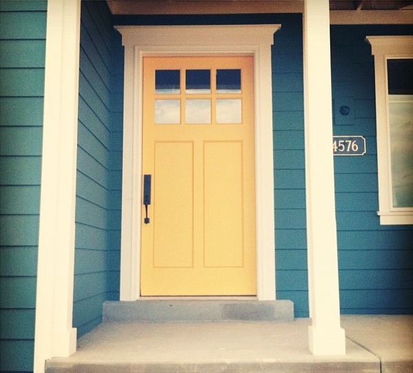 Pinterest discover and save creative ideas for Front door yellow house