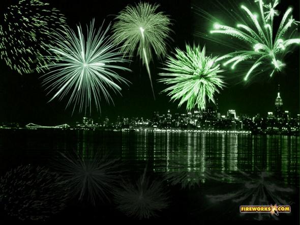 Green Fireworks | St. Patrick's Day | Pinterest