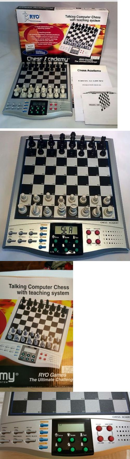 Electronic Chess 155339: Ryo Chess Academy Electronic Talking Computer Chess Teaching System W Manual -> BUY IT NOW ONLY: $39.95 on eBay!