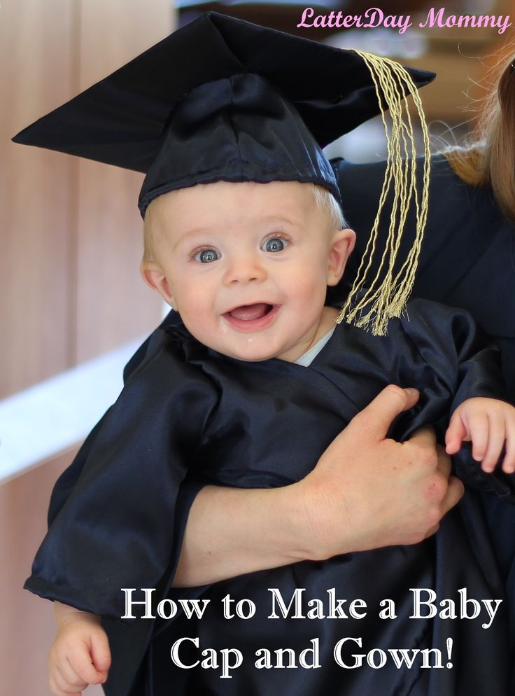 How To Make a Baby Graduation Cap and Gown tutorial! #graduation #babycostumes LatterDayMommy.com
