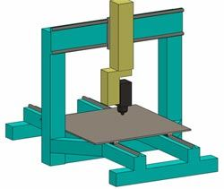 Базовая модель - Moving table 5 axis CNC ЧПУ станок