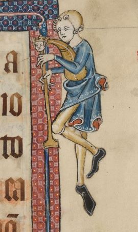 Detail from The Luttrell Psalter, British Library Add MS 42130 (medieval manuscript,1325-1340), f13r