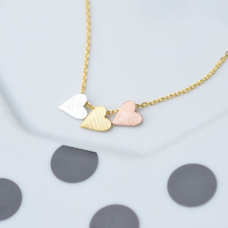 3 Coeurs Gold Necklace - Majolie