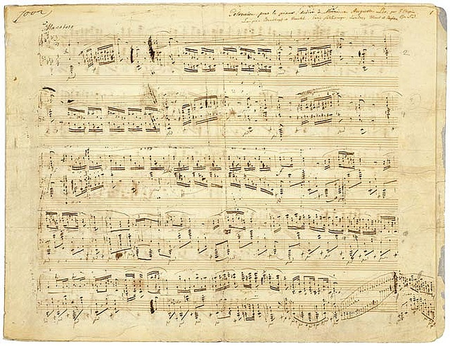 Frédéric Chopin manuscript. Would love to burn the edges of this and frame it for the living room!!
