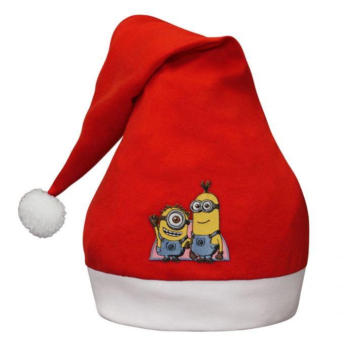 Divertente Cappello da Elfo per bambini e adulti che può essere usato anche come cuffia di Natale. Davanti puoi scegliere la personalizzazione dello stemma ricamato, con i personaggi famosi per i bambini, Hello Kitty, Violetta, Minnie, Spiderman, Cars, Superman e i Minions. Lo trovi qui: http://www.coccobaby.com/prodotto/set-consigliati-e-novita/natale-2015/1612/cappello-di-natale-con-minions-e-altri-personaggi