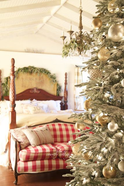 French Country Cottage Christmas Home Tour - I am so excited to share a peek at our home dressed for Christmas this year. I feel like I loaded ...