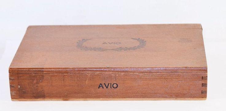 Antique Vtg. Wood Cigar Box Advertising Avio J.E. Piette & Frère Montreal 6 Cent | eBay