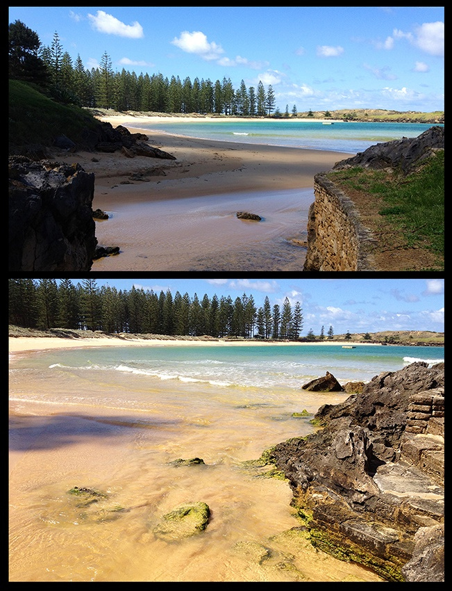 Where in the world can you find such a beautiful beach with not a soul on it? Norfolk Island.. 360° of Wonder!