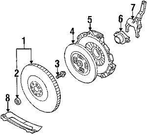 Subaru OEM 2006-2011 Subaru WRX EJ25 M/T/ 2007-2011 Subaru Legacy GT M/T Single Mass Flywheel (Use with 800610740) (Ref #1)