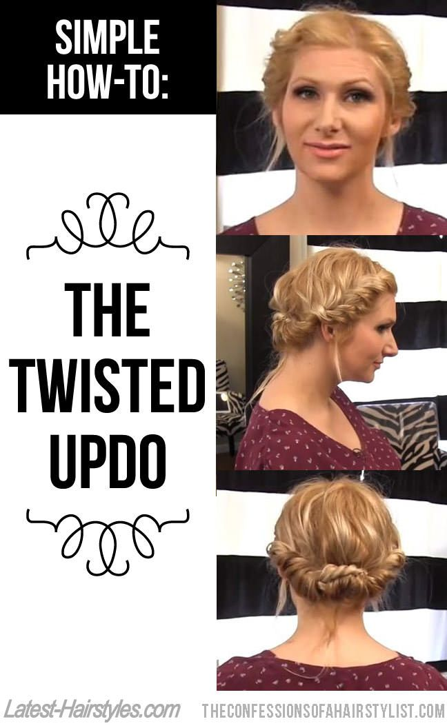 Simple Hair How-To: The Twisted Updo by @Jenny Strebe  This is the easiest #hair tutorial ever!