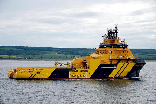 Magne Viking by Konajra, working tug and service unit to the oil platforms.