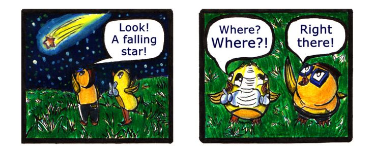 Falling Stars Webcomic from 'Let's Chicken! webcomic. Check it out! :-)