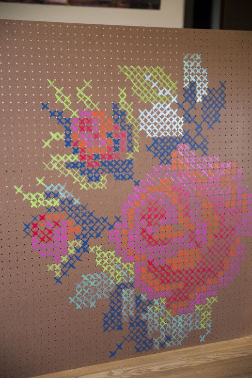 Cross stitch in peg board