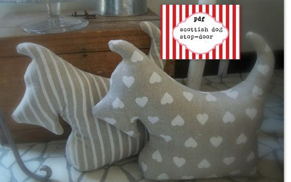 Pattern fabric lovely dog- sewing dog,mums gift,stop door via Etsy