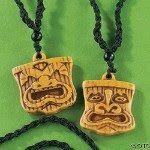 "tiki necklaces (""Immunity Idols"")   Oriental Trading"