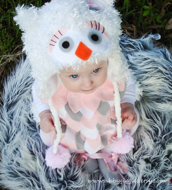 Owl Costume baby toddler girls Halloween Costume by abbygiggles on Wanelo