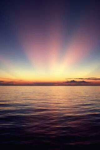 Il mare e il tramonto