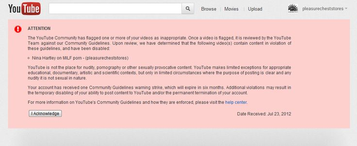 YouTube censored our interview with Nina Hartley. Why?