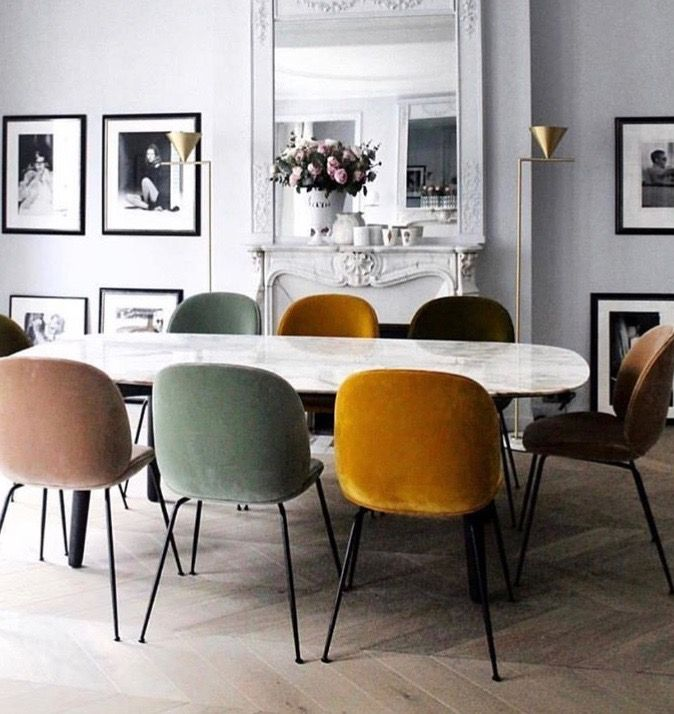 Pretty Office Setup Or Preppy Modern Dining Table Scandinavian