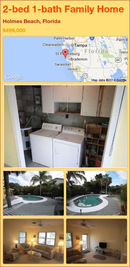2-bed 1-bath Family Home in Holmes Beach, Florida ►$499,000 #PropertyForSale #RealEstate #Florida http://florida-magic.com/properties/74699-family-home-for-sale-in-holmes-beach-florida-with-2-bedroom-1-bathroom