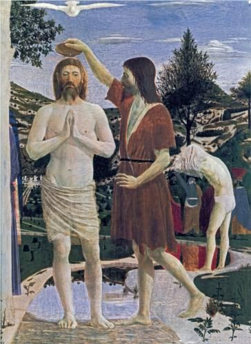 Baptism of Christ (detail) - Piero della Francesca