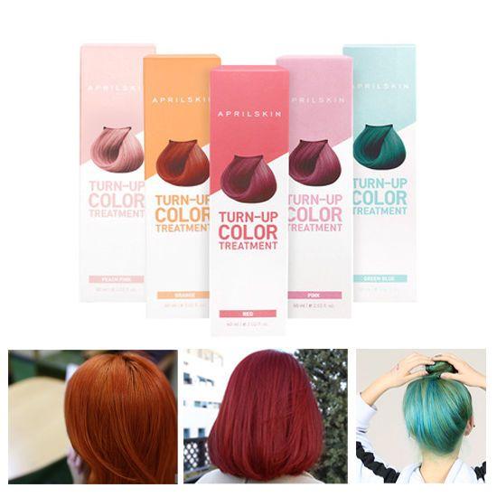 Korea APRILSKIN Turn Up Color Treatment No Hair Damage Color Coating For 2weeks  #APRILSKINKBeauty