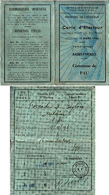 21/04/1944 : le droit de vote est accordé aux femmes en France.