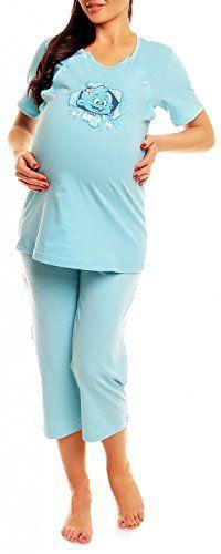 #Happy #Mama. #Damen #Umstandspyjama #Stillfunktion. #Stillschlafanzug #Kurzarm…