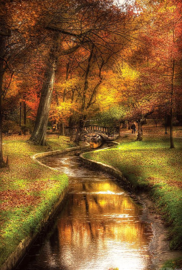 Autumn - Landscape - By A Little Bridge Artwork: #854 of 2100 by Mike Savad