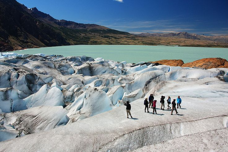 Viedma Glacier is a large glacier that is part of the huge Southern Patagonian Ice Field, located at the southern end of mainland South America.