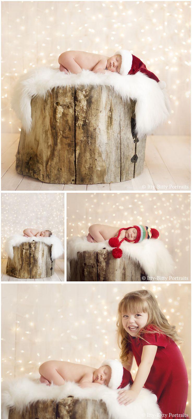 winter newborn  #twinklelights  #newbornphotography