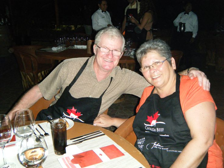The winners from the #ExperienceCDNbeef Culinary Series contest enjoying #CanadianBeef at @karismahotels