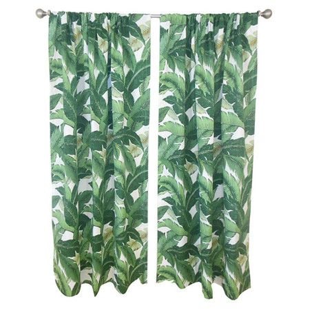 Frame A Window In Your Master Suite Or Living Room With This Tropical Inspired  Cotton
