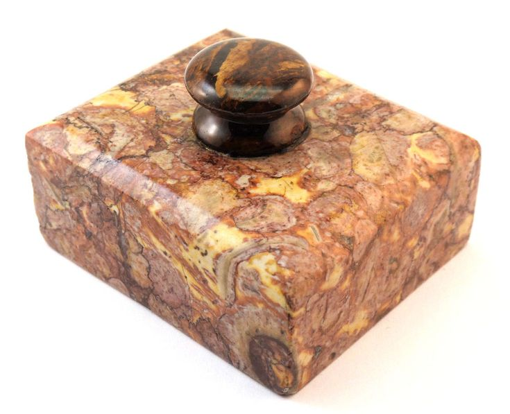 c1880, ANTIQUE 19thC FRENCH SARRANCOLIN ILHET MARBLE PRESSE PAPIER PAPERWEIGHT