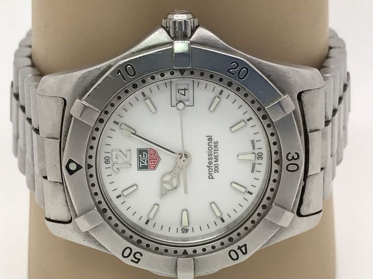Tag Heuer Men's Watch Professional 200M WK1111-1 White Dial Quartz Date (N991) #TAGHeuer #Casual