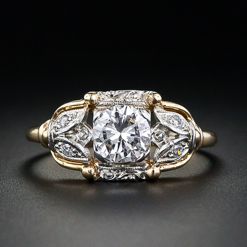 Vintage 'Jabel' diamond engagment ring. Unusual and so pretty. Lang Antiques archives.