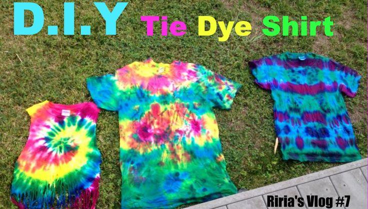 """【りりあのVLOG#7】""""D.Y.I. タイダイTシャツ!"""" Riria's Vlog""""7 D.I.Y. Tie Die Tshirts"""