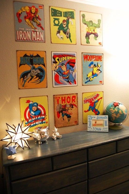 10 x kinderkamers voor super heroes mar kruzer 39 s room pinterest chambres de gars. Black Bedroom Furniture Sets. Home Design Ideas